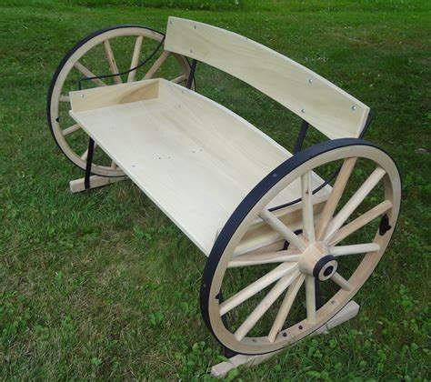 How to build a wagon wheel bench Image