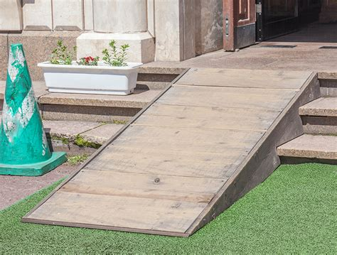 How to build a wheelchair ramp Image