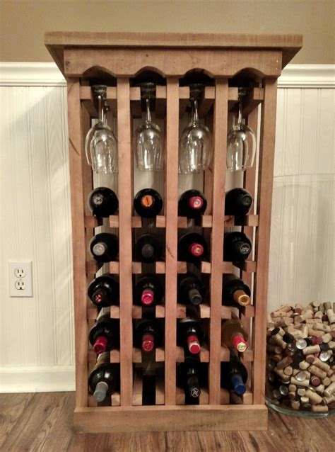 How to build a wine cabinet with wine glass rack Image
