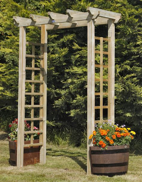 How to build a wooden arbor Image