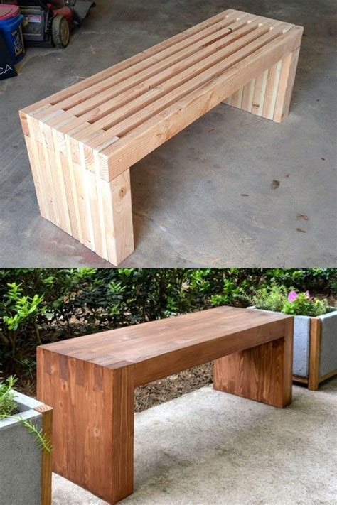 How to build benches out of wood Image