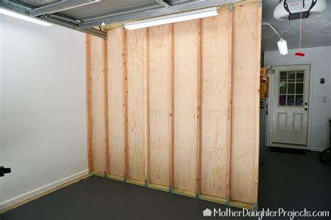How to build garage partition walls Image