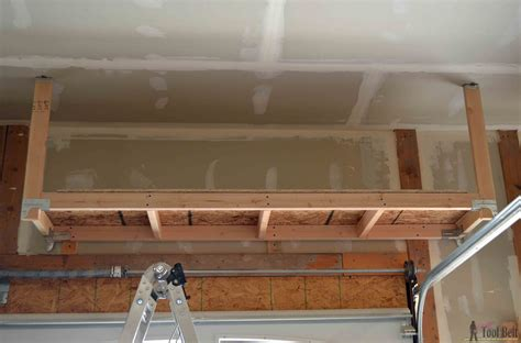 How to build garage shelves from ceiling Image