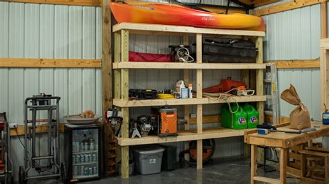 How to build garage shelves youtube Image