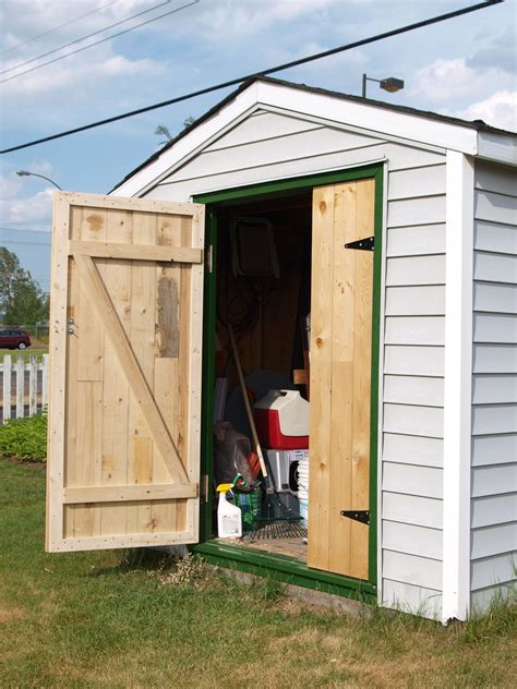 How to build garden shed doors Image