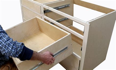 How to build kitchen cabinets install drawer slides Image