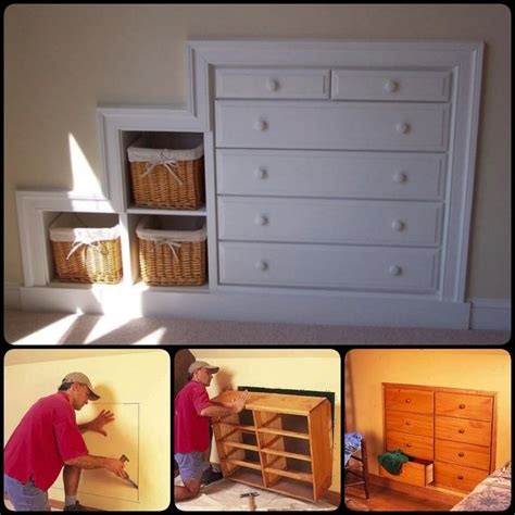 How to build knee wall dresser Image