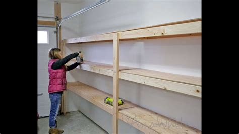 How to build shelves in the garage Image