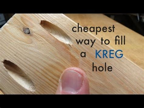 How to cheapest way to fill a kreg pocket hole Image