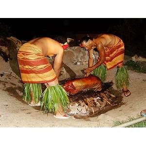 How to cook a hawaiian luau pig in the ground! hawaiian luau pig cooking inexpensive