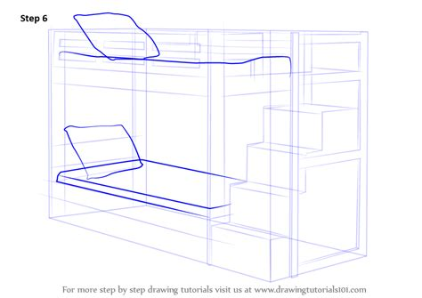How to draw a bunk bed step by step Image