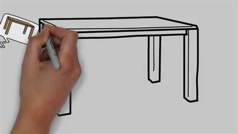 How to draw a kitchen table Image