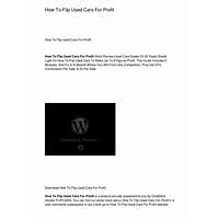 How to flip used cars for profit coupon codes