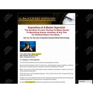 How to hypnotize someone the art of covert hypnosis does it work?