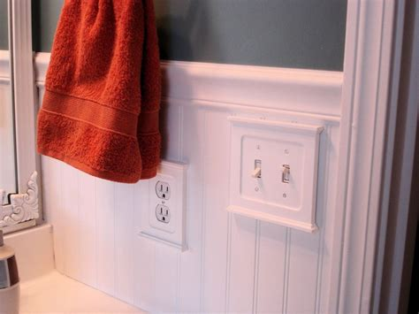 How to install wainscoting around outlets Image
