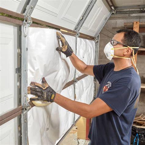 How to insulate garage door diy Image