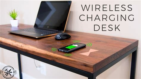 How to make a desk with hidden wireless charging Image