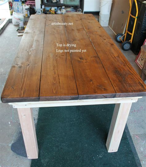 How to make a farm table top Image