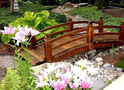 How to make a garden wood bridge Image