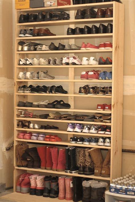 How to make a large shoe rack Image