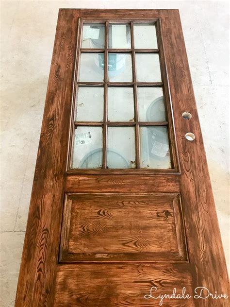 How to make a metal door look like distressed wood Image