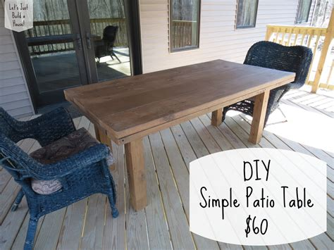 How to make a patio table this outdoor table is easy to build Image