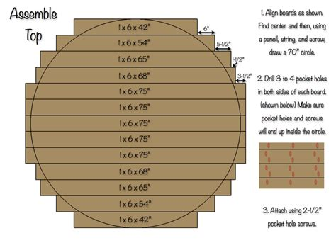 How to make a round table top with trex Image
