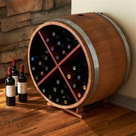 How to make a wine barrel rack Image