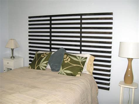How to make a wood slat headboard Image