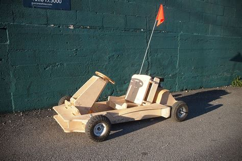 How to make a wooden go kart with an engine Image