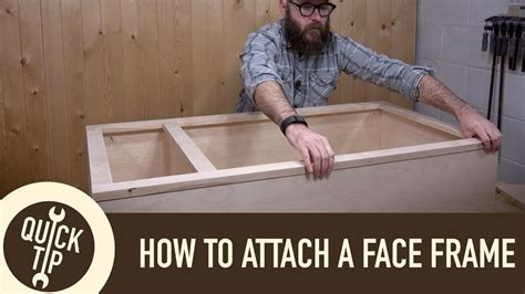 How to make and attach a face frame Image