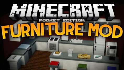 How to make furniture in minecraft pocket edition Image