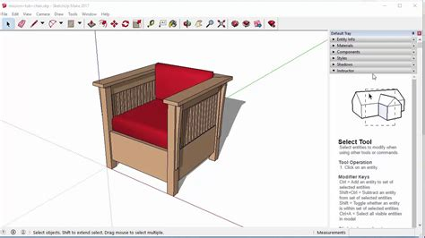 How to make furniture using sketchup Image