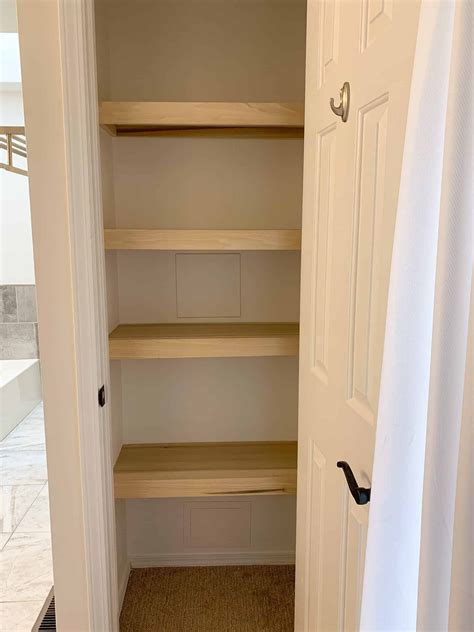 How to make shelves in closet Image