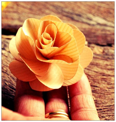 How to make wooden flowers Image