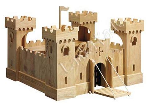 How to make wooden toy castle Image