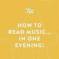 How to read music in one evening! step by step