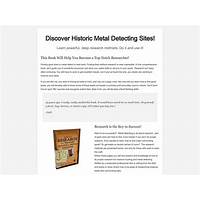 Coupon for how to research for treasure hunting and metal detecting e book