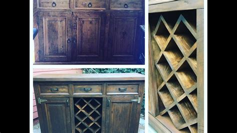 How to transform a dresser into a buffet with a wine rack by chic doctor Image