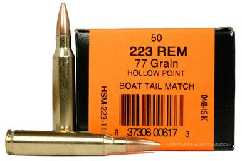 Hsm 223 Remington 77gr Bthp Match Ammo 50 Rounds