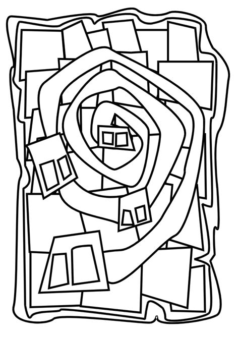 Hundertwasser Spirale Malvorlage