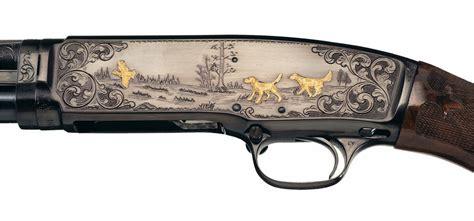 Hunting Dog Engraved Shotgun