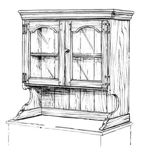 Hutch woodworking plans Image