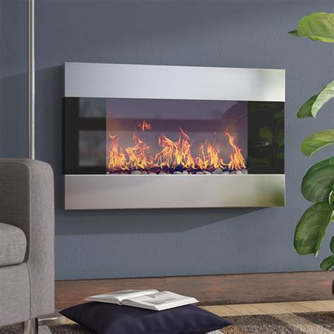 Hyler Wall Mounted Electric Fireplace