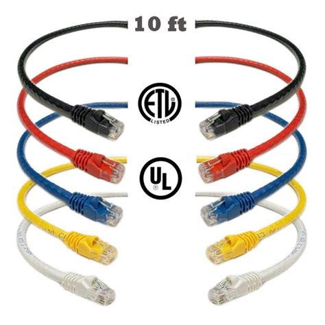iMBAPrice Mixed Colors - 25 feet RJ45 Cat6 Snagless Ethernet Patch Cable MULTI COLOR (Red, Blue, Black, White, Yellow) - 5 Pack