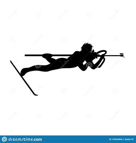 Icon Shooting Rifle Prone Biathalong