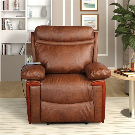 Idaho Leather Reclining Heated Massage Chair