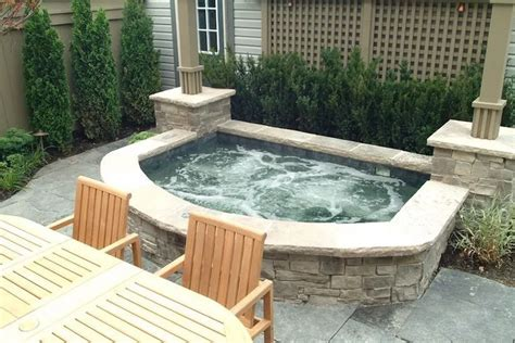 Ideas For Inground Hot Tub Concept