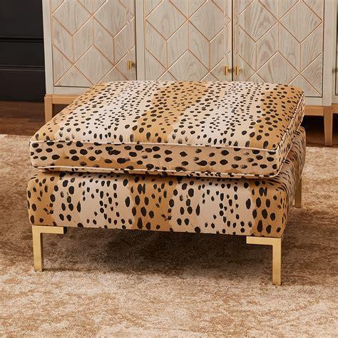 Ideas For Leopard Ottoman Design