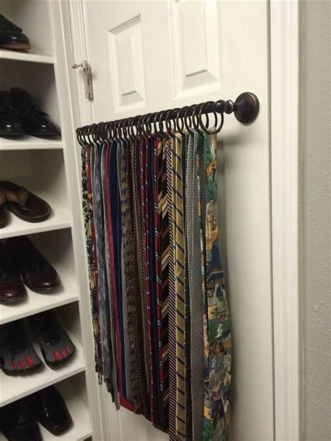 Ideas For Wall Mounted Tie Rack Design